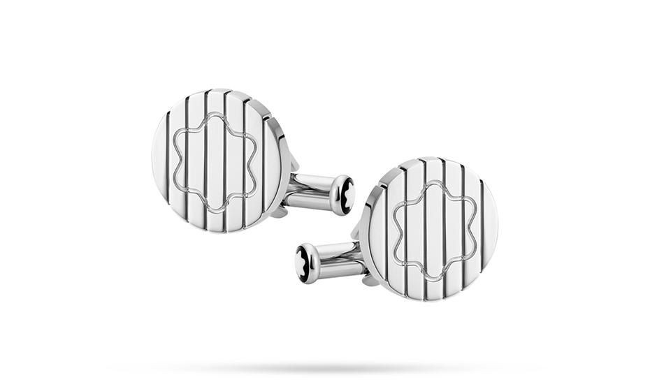 Запонки Montblanc нержавеющая сталь, обработка- полировка, застежка-  123802