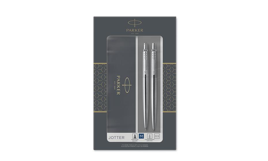 Набор Parker шариковая ручка и механический карандаш, нержавеющ  2093256