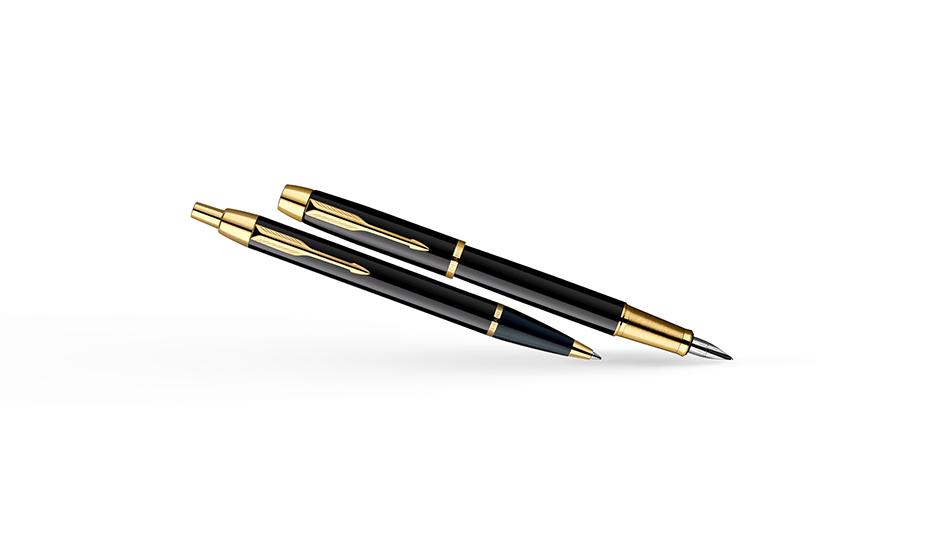 Набор Parker перьевая ручка и шариковая ручка, ювелирная латунь  2093216