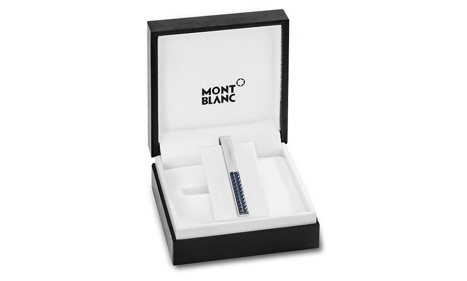Зажим для галстука Montblanc нержавеющая сталь, драгоценный камень, 8 x 50 мм  123806