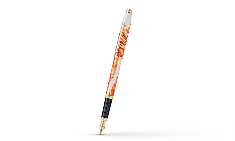 Перьевая ручка Cross ювелирная латунь, многослойное лаковое покрытие бе  AT0756-3FF