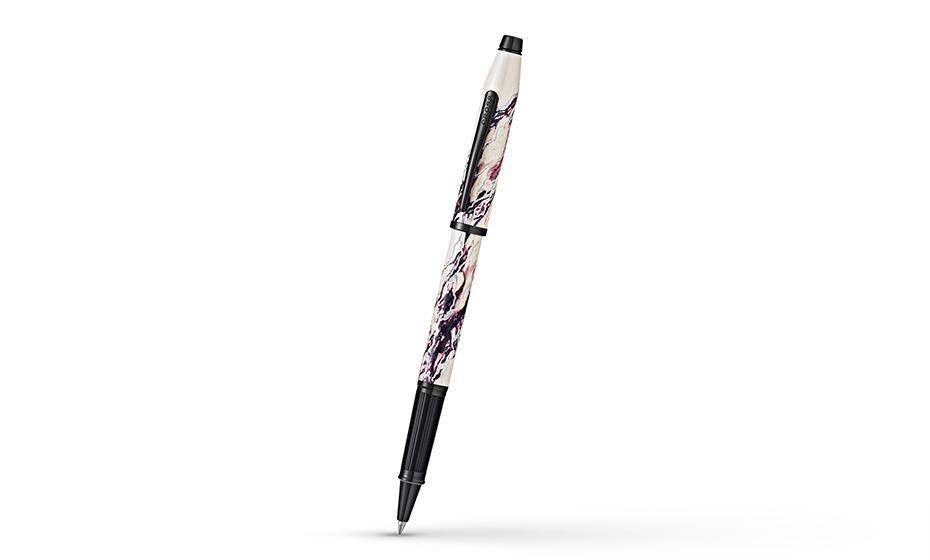 Чернильная ручка Cross Selectip Wanderlust Everest ювелирная латунь, многослойное лаковое покрытие белого цвета, черное PVD-покрытие AT0755-1
