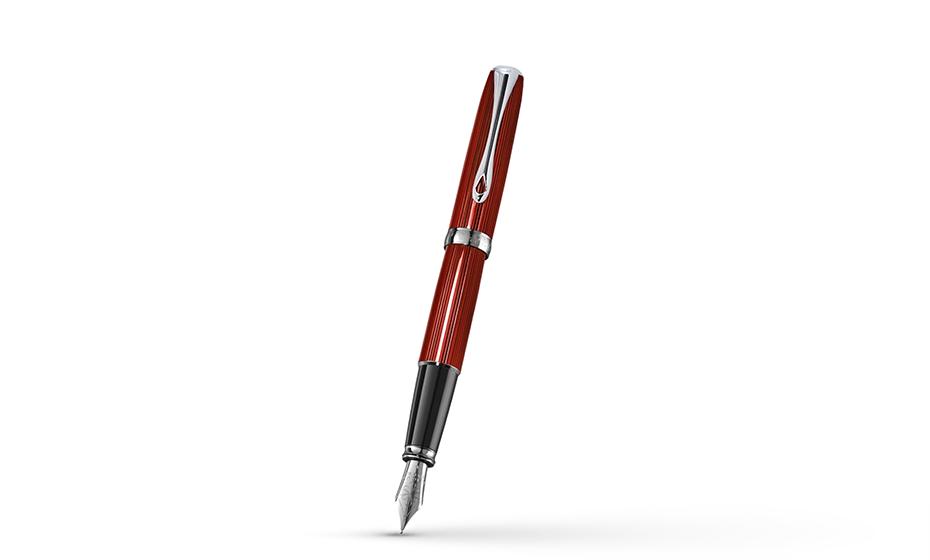 Перьевая ручка Diplomat металл с гравировкой гильош, отделка лак, перо - н  D40216023