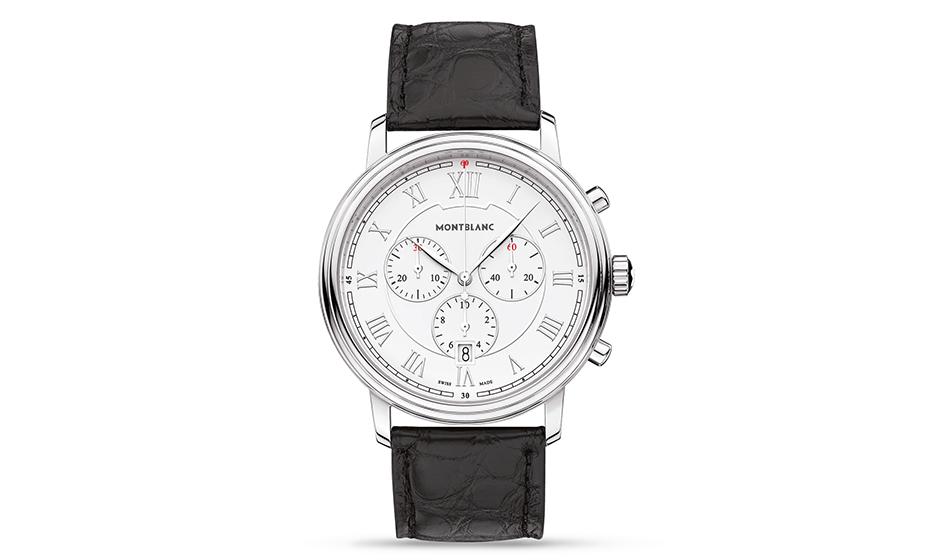 Часы Montblanc мужские, кожанный ремешок, сталь, кварцевый механи  114339