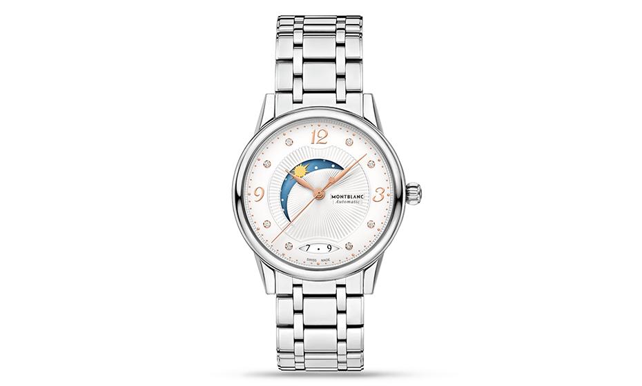 Часы Montblanc женские, нержавеющая сталь, автоматический механиз  119936