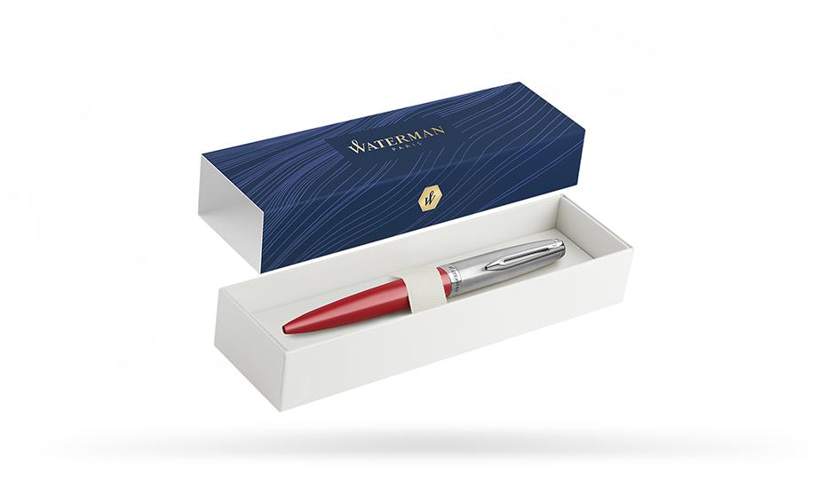 Чернильная ручка Waterman нержавеющая сталь, пластик, с палладиевым покрытие  2100325