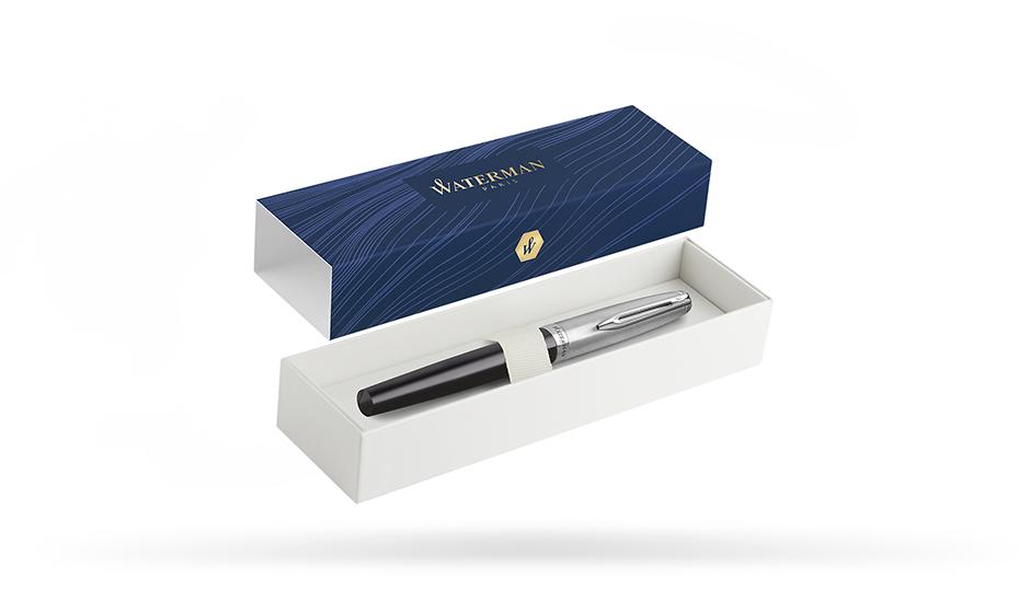 Перьевая ручка Waterman нержавеющая сталь, пластик, с палладиевым покрытие  2100380
