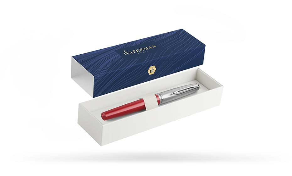 Перьевая ручка Waterman нержавеющая сталь, пластик, с палладиевым покрытие  2100404