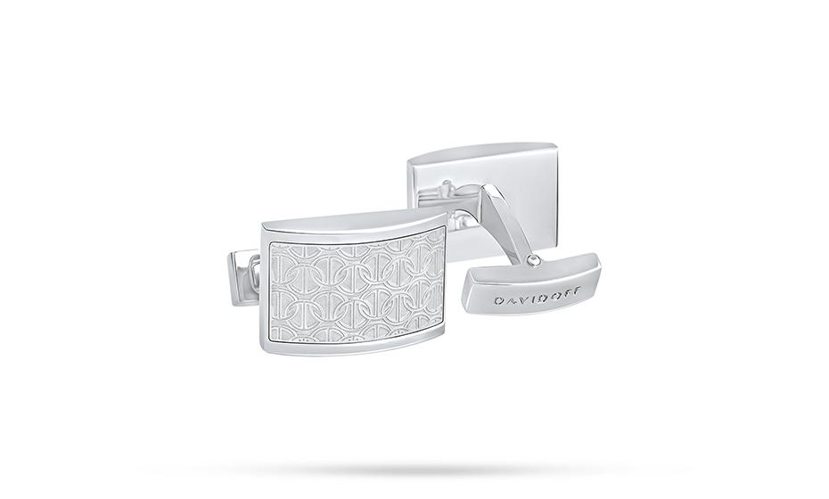 Запонки Davidoff ювелирная латунь, отделка - родиевое покрытие, зас  D22959