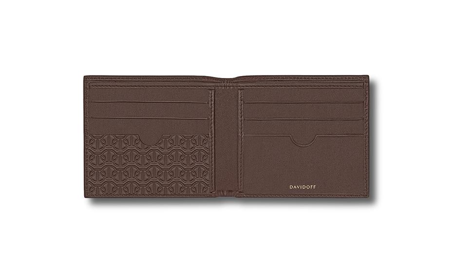Бумажник Davidoff натуральная телячья кожа, без застежки, тиснение,  D22862 D22862