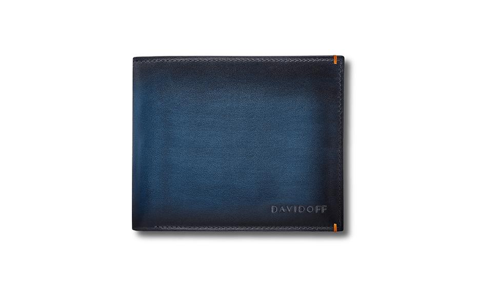 Бумажник Davidoff натуральная телячья кожа, без застежки, эффект гра  D23002