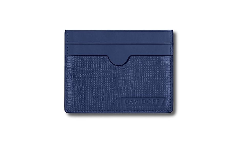 Бумажник Davidoff натуральная телячья кожа, лак, тиснение, 9,5 х 7 х  D23170