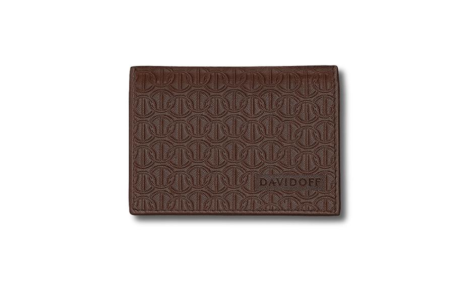 Бумажник Davidoff натуральная телячья кожа, без застежки, тиснение,  D22860