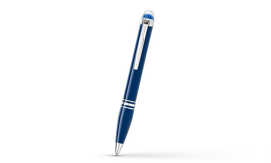 Шариковая ручка Montblanc драгоценная смола, клип с золотым напылением, съем  125292