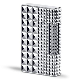 Зажигалка S.T. Dupont Ligne 1, серебро, большой размер, эмблематический  16066