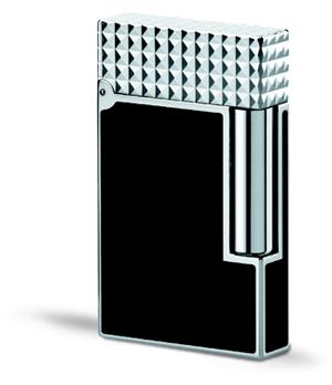 Зажигалка S.T. Dupont L2, черный лак, палладий  16067
