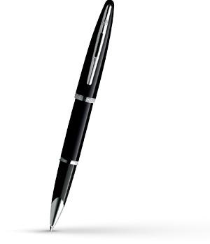 Чернильная ручка Waterman Carene Black Sea ST, лак, посеребрение  S0354150