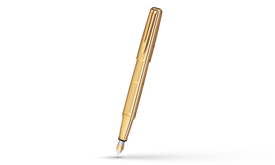 Перьевая ручка Waterman Exception Solid Gold, золото 18К, гравировка  S0728990