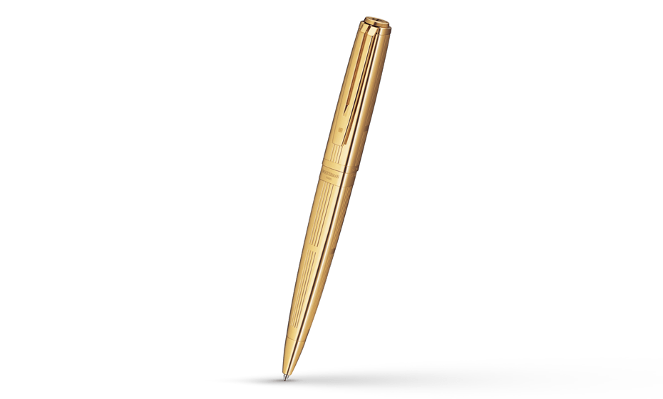 Шариковая ручка Waterman Exception Solid Gold, золото 18К, гравировка  S0729020