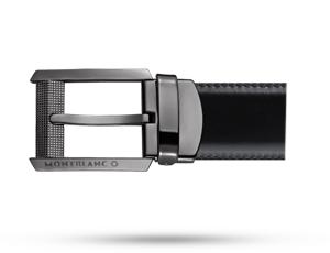 Ремень Montblanc Contemporary Line, двусторонний, черный/коричневый  38163