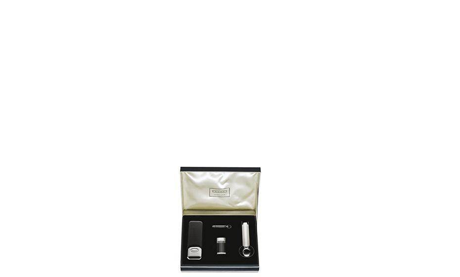 Сигарный набор Dalvey Dalvey, сталь, кожа, черный  438