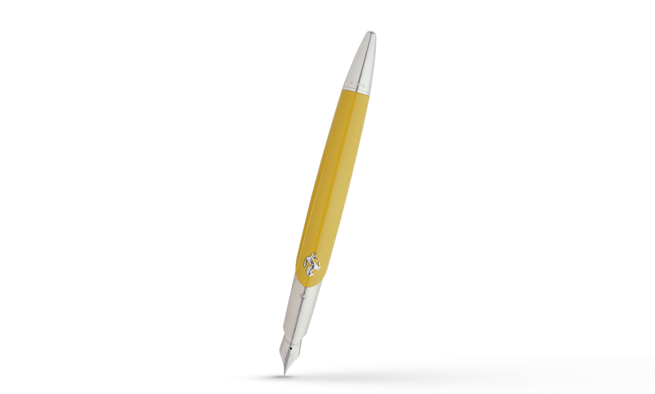 Перьевая ручка Montegrappa Ferrari Ed. FA, желтая  FA1-Y-FP