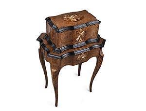 Музыкальная шкатулка Reuge со столиком Артемида, дерево, драгоценные камни  AXA.72.8264.002