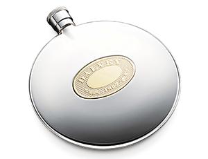 Карманная фляга Dalvey Dalvey, круглая, стандарт, сталь, латунь  422