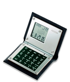 Калькулятор Dalvey Dalvey, с часами-будильником, черный  426