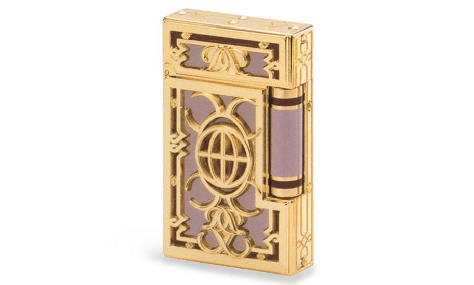 Зажигалка S.T. Dupont GATSBY New York 5th Avenue, желтое золото  18005
