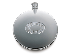 Фляга Dalvey Dalvey, сталь, круглая, дубовый лист на гравировке  423