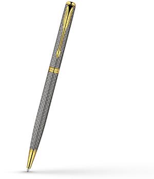 Шариковая ручка Parker Sonnet Slim Cisele, стерлинговое серебро, позолота  R0788900