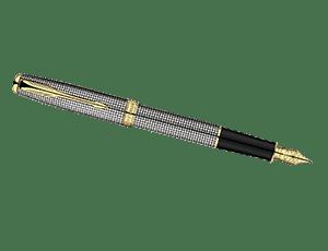Перьевая ручка Parker Sonnet Cisele, золото 18К, стерлинговое серебро, п  S0808140