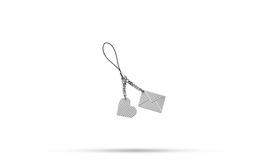 Брелок S.T. Dupont SAINT VALENTIN, сердце/конверт, узор