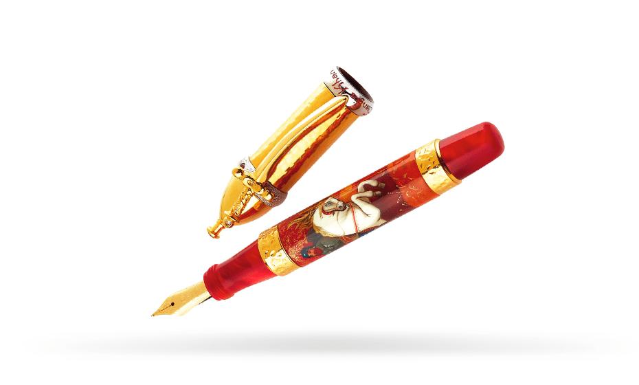 Перьевая ручка Ancora Genghis-Khan (Чингиз-Хан), золото 18К, акриловая с  GENGIS-KHAN/FP