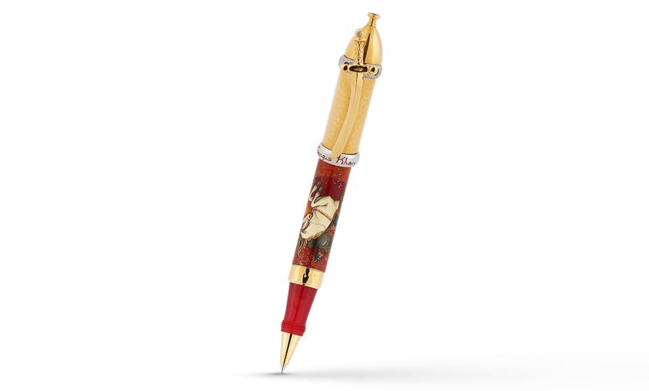 Чернильная ручка Ancora Genghis-Khan (Чингиз-Хан), акриловая смола, роспис  GENGIS-KHAN/RB
