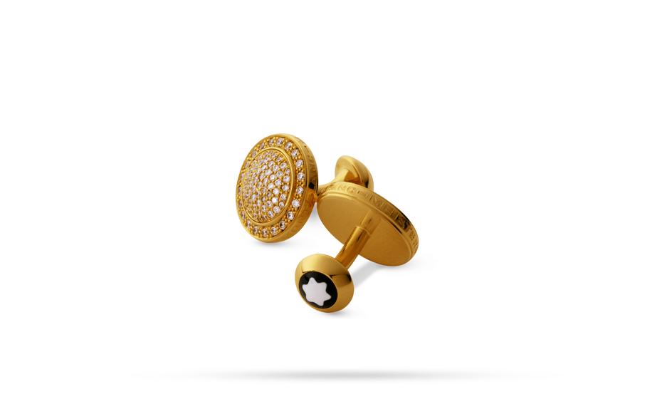 Запонки Montblanc Коллекция изысканных ювелирных украшений, желтое  2117