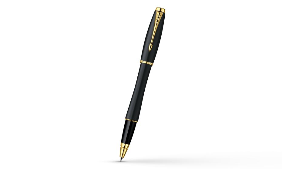Чернильная ручка Parker Urban Muted Black GT корпус из эпоксидной смолы с отделкой позолотой, арт. 2  R0836700
