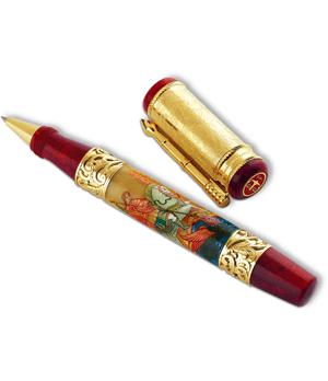 Чернильная ручка Ancora Saint George (Георгий Победоносец), акриловая смол  ST GEORGE/RB