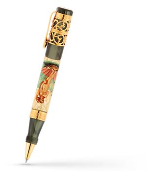 Чернильная ручка Ancora Botticelli (Боттичелли), акриловая смола, позолоче  BOTTICELLI/RB