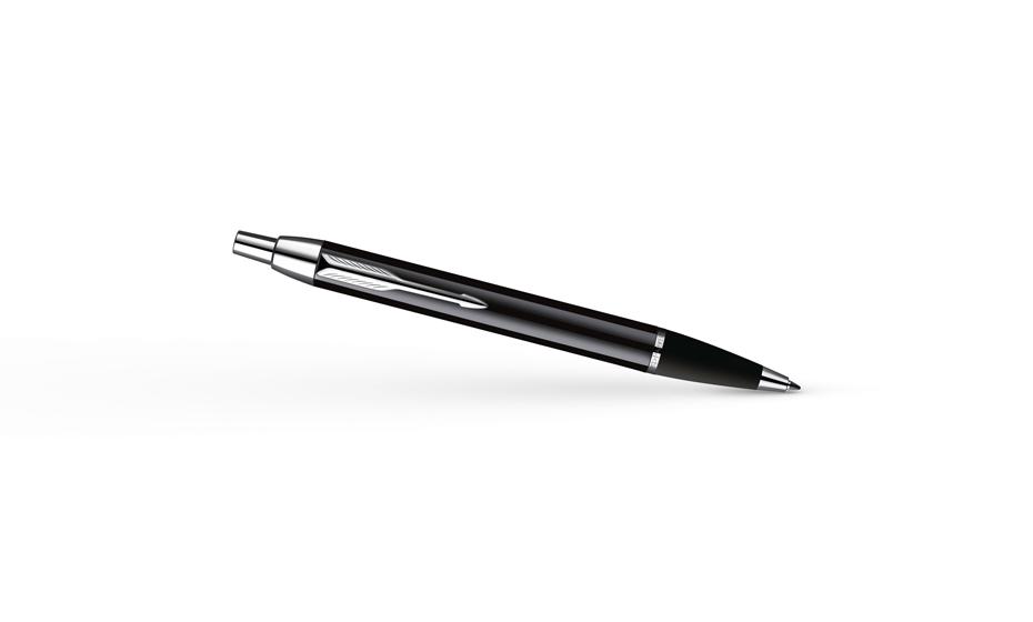 Шариковая ручка Parker IM Black CT лаковый хромированный корпус, арт. S0856430