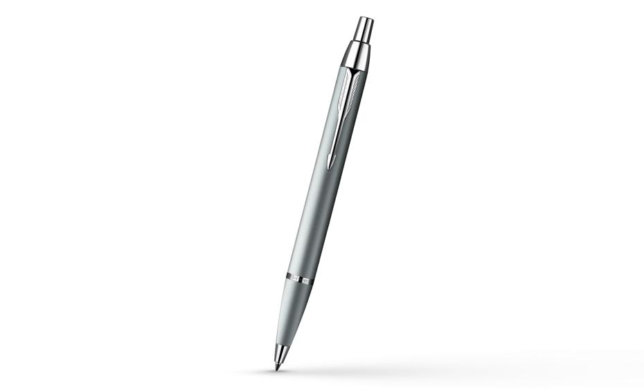 Шариковая ручка Parker IM Silver Chrome CT корпус лак, цвет серый металлик с хромом, арт.  S0856450