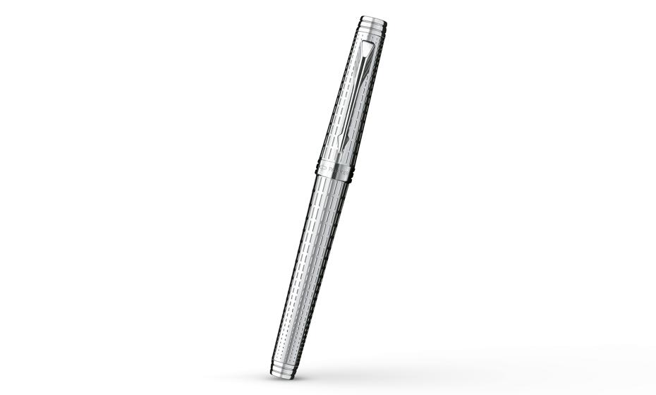 Чернильная ручка Parker Premier DeLuxe ST, посеребрение  S0887990