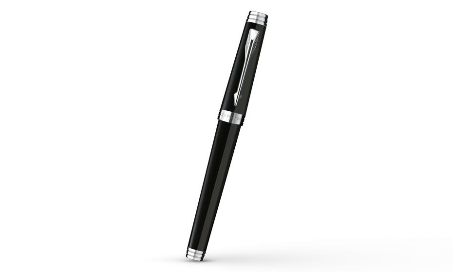 Чернильная ручка Parker Premier Laque Black ST, лак, посеребрение  S0887870