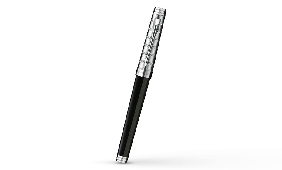 Чернильная ручка Parker Premier Custom ST, лак, посеребрение, гравировка  S0887910 S0887910