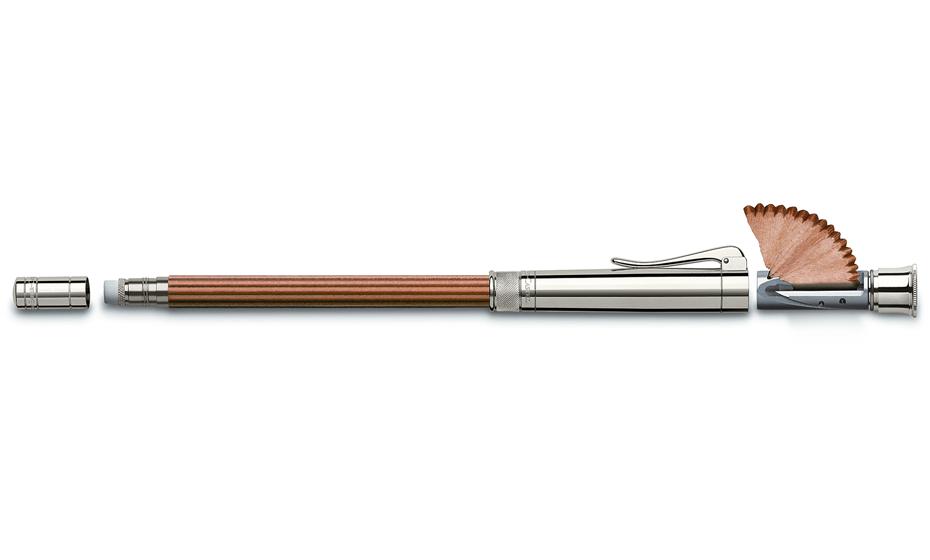 Карандаш Graf von Faber-Castell коричневый, встроенная точилка, колпачок, ластик,  118567