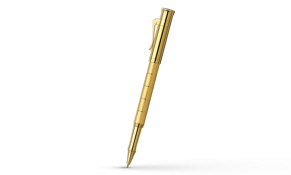 Чернильная ручка Graf von Faber-Castell Classic Anello Gold, металлический корпус, позолот  145610