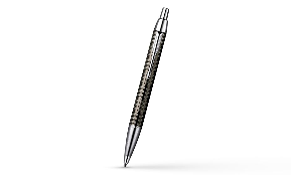 Шариковая ручка Parker IM Premium Twin Chiselled с покрытием пушечной сталью, арт. S0908610