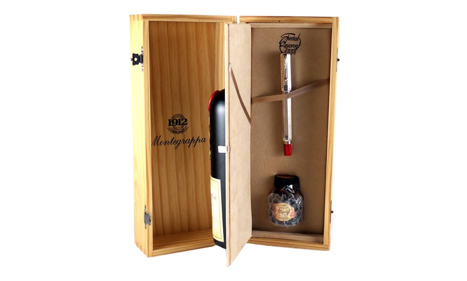 Перьевая ручка Montegrappa Специальный резерв, золотое перо М, серебро, смола  SR