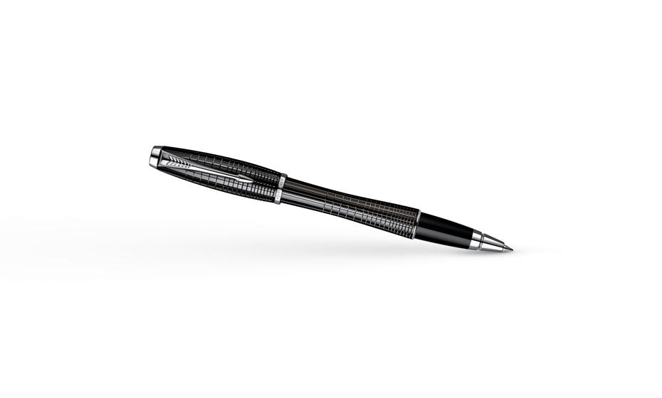 Чернильная ручка Parker Urban Premium Ebony Metal Chiselled, лак, гравиров  S0911490
